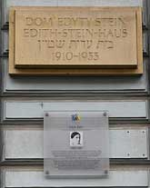 Gedenktafeln am Edith-Stein-Haus in Breslau