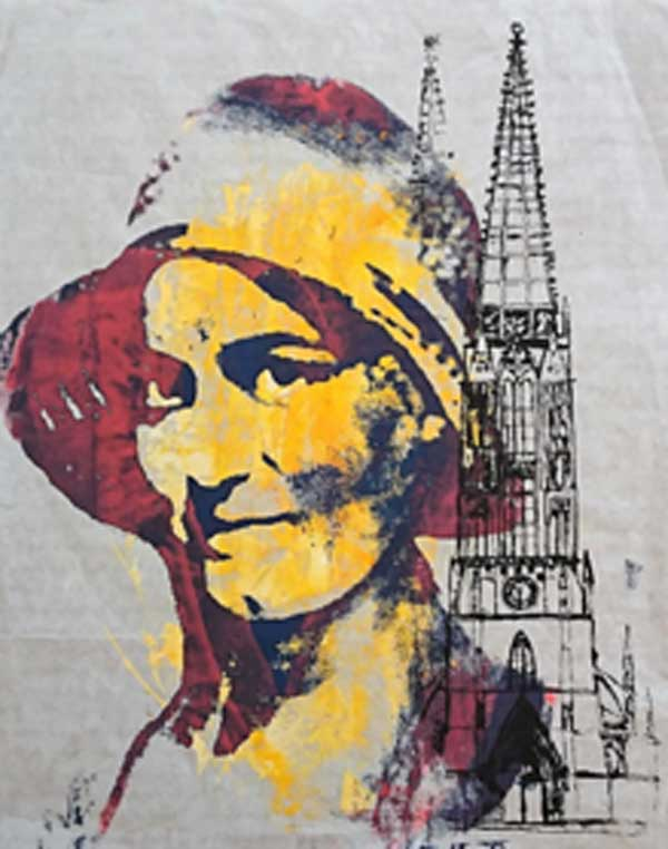 Portrait Edith Stein Collage